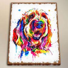 Art Print Watercolor Painting Canvas Decor - Goldendoodle or Labradoodle 24x28