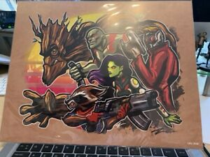 "BAM! Big Box 11"" x 14"" Print Guardians Of The Galaxy #181/350 Signed By Artist"