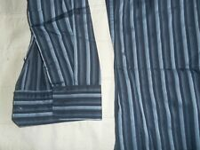 MICHAEL KORS Men's Blue Striped 100% Cotton Dress Shirt- Large 16-16-5