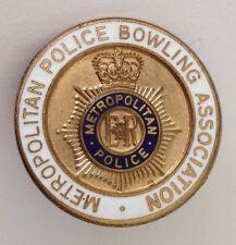 Metropolitan Police Bowling Association Club Badge Pin Rare UK England (M22)