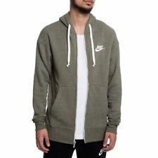 SZ 2XL 🆕🔥 Nike NSW Sportswear Heritage Full-Zip Hoodie Men's Olive 928431-395