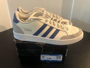 adidas Men's Grand Court SE Tennis Shoe  Blue Stripes