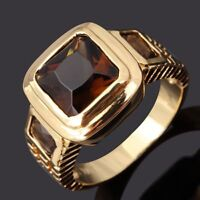 Ring Gr 66 Fingerring Gold vergoldet 10 k Herrenring Goldring Siegelring