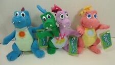 """New Dragon Tales 6"""" Plush Flying Set ZAK WEEZIE ORD CASSIE Flapping Wings NWT"""