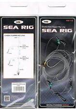 NGT Double Hook Flapper Rig Long X5 Ready Made Sea Rigs