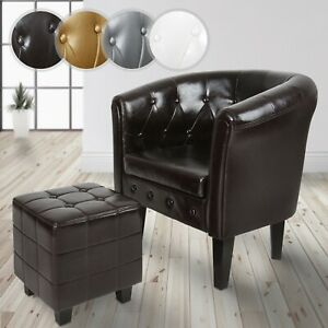 MIADOMODO® Chesterfield Sessel Hocker Loungesessel Clubsessel Cocktailsessel