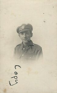 WW1 Airman Air Mechanic RFC Royal Flying Corps badge in khaki cap Bangor photo