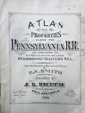 1900 Pennsylvania R.R., Overbrook To Malverne, Title Page, Copy Plat Atlas Map