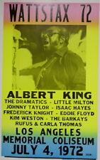 "Albert King Concert Poster Wattstax 1972 w/ The Dramatics Isaac Hayes .. 14""x22"""