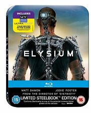 Elysium Blu-ray Limited Edition Steelbook UK Exclusive Region B Brand NEW SEALED