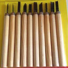 lot de 10 ciseaux à bois pour sculpture sculpteur outil à sculpter couteau