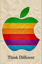 Abstract Steve Jobs Poster Apple Mac iPhone Logo Poster Think Different Poster