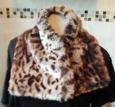 Beautiful Faux Fur Animal Print Stole by MORE & MORE Length 74 cms NEW & UNWORN