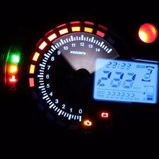 299KM/h LCD Digital Motorcycle Speedometer Odometer Motor Bike Tachometer