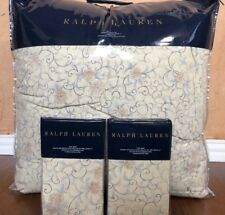 NEW 3-piece Ralph Lauren Madalena Audrey Antique Tan King Comforter & Shams Set
