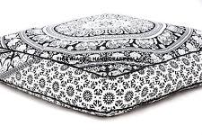Elephant Mandala Floor Pillow Indian Square Ottoman Pouf Large Meditation Pillow
