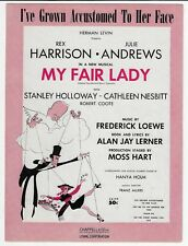 Piano Vocal B'Way Sheet Music MY FAIR LADY / I'VE GROWN ACCUSTOMED TO HER FACE