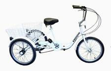 "Ultimate Hardware Freedom Adults 20"" Wheel 6 Speed Cargo Trike Tricycle White"