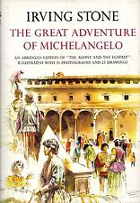 """IRVING STONE - """"THE GREAT ADVENTURE OF MICHELANGELO"""" -  1st BRITISH Edn (1966)"""