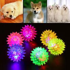 Flashing LED Elastic Ball Glowing Hedgehog-ball Dog Cat Pet Training Toy UK