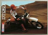 YAMAHA DT125LC MOTORCYCLE Sales Brochure c1985 #LIT-3MC-0107856-85E