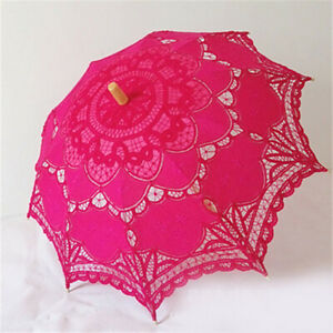 Lace Parasol Umbrella Beautiful Vintage Handmade For Bridal Wedding Decor 4Sizes