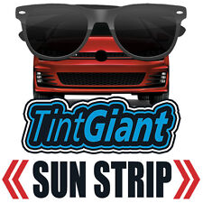 TINTGIANT PRECUT SUN STRIP WINDOW TINT FOR GMC SIERRA 2500 CREW 07-14