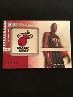 2003-04 Upper Deck SP Signature- SP Rookie Logo Dwayne Wade 97/499