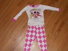 2 Girls Power Rangers pajama outfits SIZE 12/18 MONTHS
