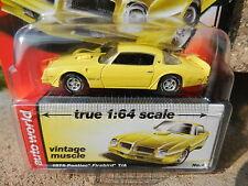 2016 AUTO WORLD 1:64 *PREMIUM 5A* Yellow 1976 Pontiac Firebird T/A *NIP!*