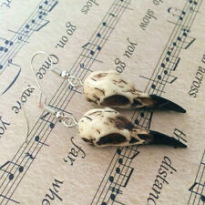 Raven Skull Earrings 3d Resin Replica Raven Crow Halloween Gifts Wiccan Gift