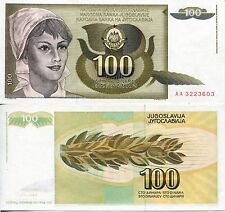 Yugoslavia 100 Dinar Dinara 1991 Communist Currency Money Banknote Labor UNC