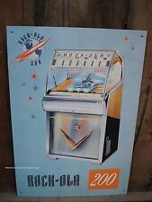 *Metal Decor* Rock Ola Jukebox record music machine pinball arcade vintage-style