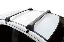 Aerodynamic Roof Rack Cross Bar for Mitsubishi Lancer 07-18 Black Flush End