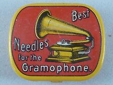 Grammophon Nadel-Dose, Best Needles for the Grammophon, Abb. Trichtergrammophon