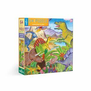Eeboo Dinosaur Island 64 Piece Kids Toy Family Puzzle Age 5+ 02008