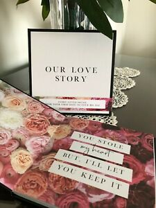Our Love Story Book wedding planner engagement couple Bride Groom diary journal
