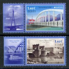 Ponts MNH Lot de 2 Timbres 2018 ESTONIE EUROPA