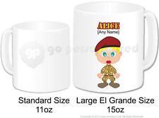 Personalised Army Female Soldier Camouflage Cadet Large Gift Mug 15oz (Design 2)