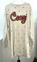 Coogi Australia Long Sleeve Hip Hop Style T Shirt. Embroidery Stitching.