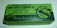VINTAGE SWINGLINE STAPLES NO. 310 OFFICE SUPPLY & EQUIPMENT KNOXVILLE TENNESSEE