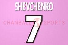 Shevchenko #7 2000-2002 AC Milan Homekit Nameset Printing