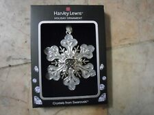 New ! Crystals from Swarovski - Harvey Lewis - 2019 Snowflake Ornament