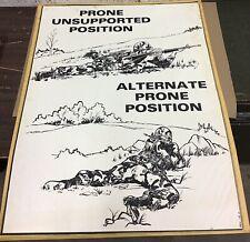 Vietnam Era Military Shooting Position Teaching Poster Brm-116-A