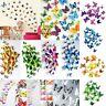 12 Stk 3D Schmetterlinge Blumen Dekoration Wandtattoo Wandsticker Wanddeko