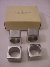 (4) POTTERY BARN ALUMINUM NAPKIN RINGS