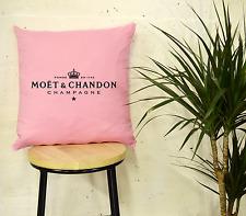"""Moet champán rosa inspiración Cojín Almohada Chanel Algodón Moda de Lujo 16"""""""