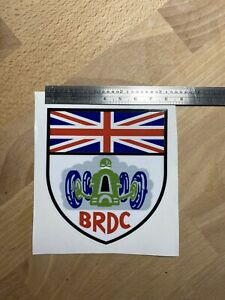BRDC Official F1 Souvenir Vinyl Sticker - Suitable for Outdoor or Indoor use