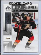 11-12 SP Game Used Maxime Macenauer Rookie # 105
