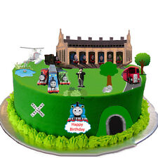 Thomas The Tank Engine Scene Edible Wafer Paper Cake Toppers - Easy to Use